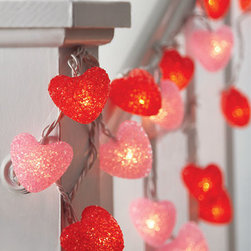 Set of 2 Heart-Shaped String Lights - We all know that Christmas lights exist, but how about some Valentine's Day lights? These glowing hearts make nice decorations for indoor or outdoor use.
