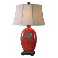Bellante Red Table Lamp