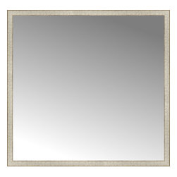"""Posters 2 Prints, LLC - 56"""" x 54"""" Libretto Antique Silver Custom Framed Mirror - 56"""" x 54"""" Custom Framed Mirror made by Posters 2 Prints. Standard glass with unrivaled selection of crafted mirror frames.  Protected with category II safety backing to keep glass fragments together should the mirror be accidentally broken.  Safe arrival guaranteed.  Made in the United States of America"""