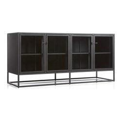 Casement Black Large Sideboard -