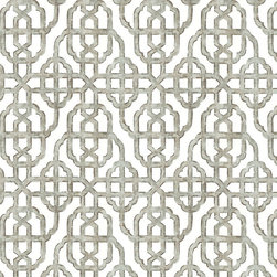 """Ballard Designs - Ella Taupe Fabric by the Yard - Content: 100% Cotton. Repeat: Non-railroaded fabric, 8.41"""" repeat. Care: Dry Clean. Width: 56"""" wide. Taupe and white Chinoiserie geometric printed on crisp 100% cotton.  .  .  .  . Because fabrics are available in whole-yard increments only, please round your yardage up to the next whole number if your project calls for fractions of a yard. To order fabric for Ballard Customer's-Own-Material (COM) items, please refer to the order instructions provided for each product.Ballard offers free fabric swatches: $5.95 Shipping and Processing, ten swatch maximum. Sorry, cut fabric is non-returnable.Because fabrics are available in whole-yard increments only, please round your yardage up to the next whole number if your project calls for fractions of a yard. To order fabric for Ballard Customer's-Own-Material (COM) items, please refer to the order instructions provided for each product.Ballard offers free fabric swatches: $5.95 Shipping and Processing, ten swatch maximum. Sorry, cut fabric is non-returnable."""