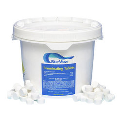 Blue Wave - Blue Wave Bromine Tablets - 10 lb - America's highest quality bromine compare to Aquabrome; this powerful and effective sanitizer kills algae and bacteria. This alternative to chlorine is great for use in swimming pools, spas, and hot tubs. Our bromine is ph balanced so it is less harsh on skin, eyes, hair, and swim wear. Plus, bromine produces no chlorine odor, making it ideal for indoor pools. Since bromine dissolves at a must slower rate than chlorine, it must be dispensed by an automatic feeder.