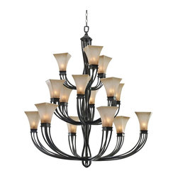 "Golden Lighting - Traditional Pasianno Collection 47 1/4"" Wide Roan Timber Chandelier - The Origins Collection by Golden Lighting offers distinct traditional styling with its molded metalwork and multi-step Roan Timber finish. The open cage structural arms and body create a twisted look that continues into the Evolution glass. The metal frame has been artfully designed to mimic the look of a rustic hand-crafted and detailed fixture. With beautiful molded art glass that has the appearance of one-of-a-kind hand-blown glass featuring a pearl essence luster that is striking when lit. This chandelier brings the elegance of the Origins collection to your living room dining room or other space. Metalwork frame. Evolution glass. Timber Roan finish Fifteen maximum 60 watt or equivalent candelabra base bulbs (not included). Includes 12 feet of chain 15 feet of wire. 53 1/4"" high. 47 1/4"" high.  Metalwork frame.  Evolution glass.  Timber Roan finish  A large chandelier with three levels of lights.  Fifteen maximum 60 watt or equivalent candelabra base bulbs (not included).  Includes 12 feet of chain 15 feet of wire.  53 1/4"" high.  47 1/4"" high."