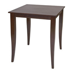 "Office Star Products - Jamestown Pub Table in Espresso - Jamestown Pub Table in Espresso; Attractive design compliments most any decor; Beautiful Espresso finish on select veneers and solids; Robust tapered legs for exceptional table support; Overall Table dimension: 32.25""W x 32.25""D x 36.25""H; Quick and Easy to Assemble; Dimensions: 32.25""W x 32.25""D x 36.25""H"