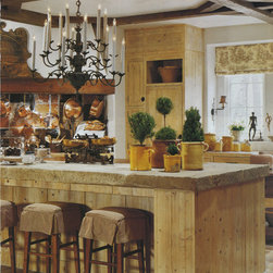 Antique Thick Limestone Countertops, AKA Foundation Slabs - Inspirational Images