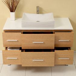 "43.5"" Distante Single Vessel Sink Vanity - Natural Wood (FVN6123NW) -"