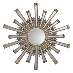 Paragon Art - Paragon Retro Starburst - Retro Starburst ,  Paragon Beveled Mirror       Round mirror size is 12h x 12w , Paragon has some of the finest designers in the home accessory industry. From industry veterans with an intimate knowledge of design, to new talent with an eye for the cutting edge, Paragon is poised to elevate wall decor to a new level of style.