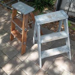 PMD Vintage painted wood step ladder - Peanut McKenzie Designs Vintage items at various venues
