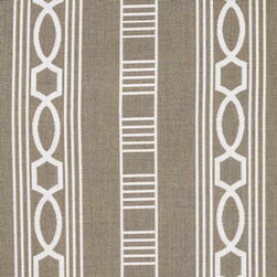 Trestle - Beige and white is one of my ultimate favorite color combinations, so I couldn't say no to this geometric pattern from Kravet. I'd love a couple outdoor pillows covered in this!