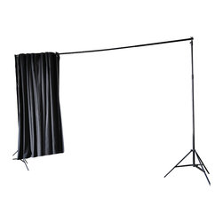 "RoomDividersNow - Loft Style Room Divider Kit, Black, 8'h X 12'6""w - Loft style room divider kits provide an innovative way to create privacy with ease. If you have an open space with raised ceilings or no walls, then this is the kit for you! Perfect for city lofts, office space, and studio apartments. Each kit provides you with everything needed to divide a space in minutes."