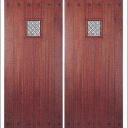 MAI - Mahogany Entry Door Model HTC-800 - Model HTC-800 is from our Home Towne Collection. Door is solid Mahogany.  Styled for Craftsman and Arts & Crafts Homes.  This door can be purchased as one door, two doors, or doors with matching sidelites.