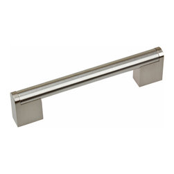 "GlideRite Hardware - GlideRite 6"" Stainless Steel Round Cross Bar Cabinet Pull - Dress up your cabinets by upgrading to this stainless steel cabinet pull by GlideRite Hardware. This is a perfect replacement for any hardware with 4-3/8"" hole spacing, and the beautiful finish makes them a statement in your kitchen for years to come. Each pull is individually bagged to prevent damage to the finish and standard installation screws are included."