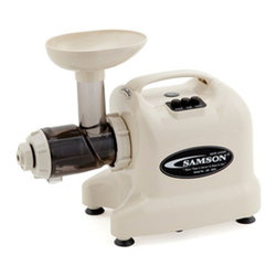 "Healthnut Alternatives - Samson Gb9003 Single Auger Juicer - Ivory - Samson ""Advanced"" Series Multi-Purpose Juice Extractor"