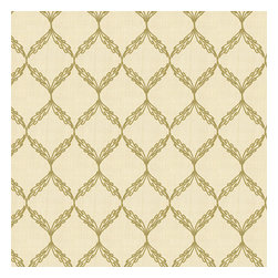 Green Embroidered Trellis Fabric - Green trellis crewel embroidered on natural cotton for a look that's classic with a touch of casual.Recover your chair. Upholster a wall. Create a framed piece of art. Sew your own home accent. Whatever your decorating project, Loom's gorgeous, designer fabrics by the yard are up to the challenge!