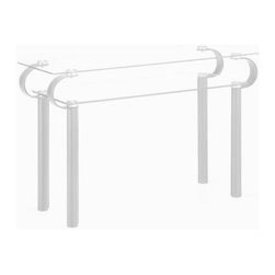 Zuo Modern - Zuo Cooper Console Table in White - Console Table in White belongs to Cooper Collection by Zuo Modern The Cooper is a mutli-function console table; it fits in a foyer or behind a sofa. With two levels of tempered glass, this versatile design looks great as well. The legs are wrapped in leatherette with stitching completing the contempory and transitional look. Console Table (1)