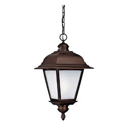 Capital Lighting - Capital Lighting 9966BK-GU Black 1 Light Outdoor Fixture - Classically styled 1 Light Outdoor Fixture with Frosted Seeded glass