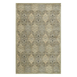 """Loloi Rugs - Loloi Rugs Nyla Collection - Taupe/Gold, 2'-4"""" x 7'-9"""" - The power-loomed Nyla Collection from Egypt offers a range of subtle, sophisticated looks that enhance an interior space at a value-driven price. Made of 100% viscose, Nyla features soft color combinations with touches of mocha, plum, and mist throughout the selection."""