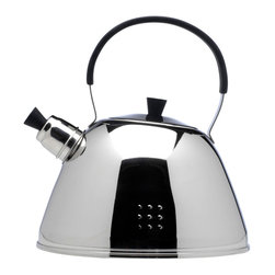 Berghoff - Berghoff Orion Whistling Kettle 11 Cup - Designer 11 cups Stainless Steel whistling tea kettle, boils two quarts of water quickly, and then harmoniously whistles. It features a large fill opening so filling and cleaning are an easy task. Use on any stove top: gas, electric, ceramic or induction. 3 layer capsule base for fast and even heat distribution