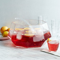 Gem Punch Bowl and Ladle - A modern update on the punch bowl, this version from West Elm has a cool, faceted look that's reminiscent of gemstones. It's beautiful filled with punch, of course, but you could also use it as a centerpiece filled with flowers or seasonal fruit.