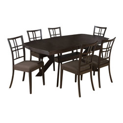 Jofran - Jofran Ryder Ash 7 Piece Dining Room Set - The classic formulas of color combinations are not valid in Jofran Furniture territory: here is ruled by laws solely of your own preferences and fantasies. Huge selection of colors in combination with a wide choice of shapes and sizes allow you to find among this variety precisely the furniture you've always wanted to see in your home. What's included: Dining Table (1), Side Chair (6).