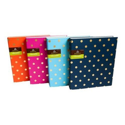 Greenroom 1-inch Metallic Dot Binder