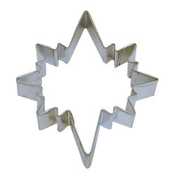 RM - Star Of Bethlehem 5 In.  B1032X - Star of Bethlehem cookie cutter, made of sturdy tin, Size 5 in., Depth 7/8 in., Color silver