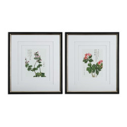 Uttermost 41513 Asian Flowers Framed Floral Art Set - Uttermost 41513 Asian Flowers Framed Floral Art Set*Collection: Asian Flowers*Designed by Grace Feyock*Set of 2*Weight: 40