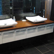 Contemporary Bathroom by Fran Loga - Redl Kitchens