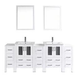 "Bosconi - Bosconi AW224U3S 84"" Double Vanity - Bosconi AW224U3S 84"" Double Vanity"