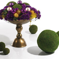 Accent Decor - Decorative Moss Spheres - Set of 5, Medium - Create an atmosphere inspired by nature with these decorative moss spheres. Display on a pedestal, vase, large decorative pot, wherever your creativity leads you!