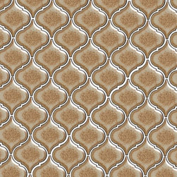 Tessen Toast - Ceramic tile in an arabesque shape, adding Mediterranean flair to any surface inside or outside the home.