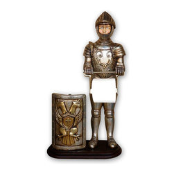Knight Statue Tissue Holder, 2FT -