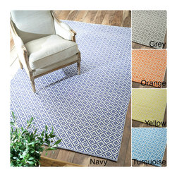 Nuloom - nuLOOM Handmade Flatweave Moroccan Trellis Cotton Rug (5' x 8') - Inspired from Moroccan patterns,this trellis rug is handmade with cotton fibers to enhance any home decor. These rugs are flat woven which means that they do not have a pile.