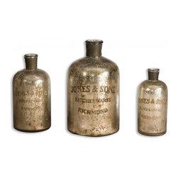 www.essentialsinside.com: kaho, decorative jugs, glass, set of 3 - Kaho, Decorative Jugs, Set Of 3 by Uttermost, available at www.essentialsinside.com