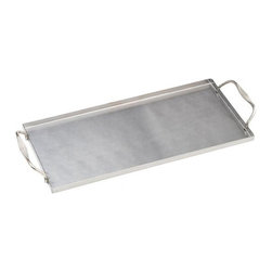 Bull BBQ - Bull Outdoor Stainless Plank Saver with Side Handles - The Stainless Plank Saver is a re-usable tray that can be served straight from the grill to the table