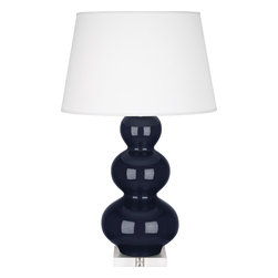 Robert Abbey - Triple Gourd Table Lamp, Midnight Blue - -1-150W Max.