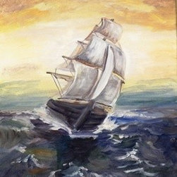 Three Sheets To The Wind (Original) by Meg Scott - An emotional nautical piece. Inspired by the Age of Sail.