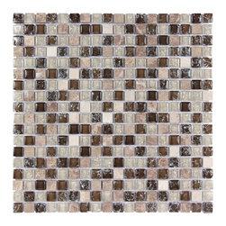 Stone & Co - Stone & Co Mosaic Glass and Stone Mix 5/8 x 5/8 Glass Mosaic Tile Mag 4420 SQ - Finish: Polished / Shiny