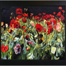 """overstockArt.com - Sargent - Poppies Oil Painting - 20"""" x 24"""" Oil Painting On Canvas Poppies , is a beautiful and colorful Sargents painting of poppies, a motif well known among 19th and 20th Century artists. This reproduction was made with exceptional use of color, detail and brush strokes and will bring color and grace to every room. John Singer Sargent was an American painter and best known for his portraits. His works include 900 oil paintings and more than 2,000 watercolors. Your friends and family are sure to admire this beautiful canvas."""