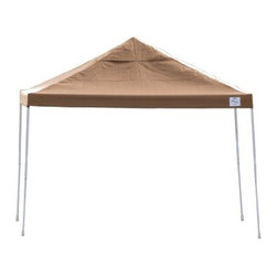 Shelterlogic - Straight Leg Popup Canopy, 12'x12', Desert Bronze Cover, Black Roller Bag - • Our widest Open Top Pro Pop-Up. Combines sturdy construction, quality features and stylish design in one easy up unit. Perfect as a vendor or special event canopy.