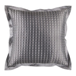 """Surya - Surya AR005-1818D Pillow - This pillow's sleek metalic design add a touch of class to your room. The color gray accents this decorative pillow. This pillow contains a poly fill and a zipper closure. Add this 18"""" x 18"""" pillow to your collection today."""