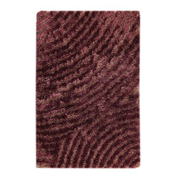 """MAT Orange Tweed Purple Rug - 5'2""""x7'6"""" - The rugs in this collection are all inspired by urban lanandscapes, making way for a statement where texture, shape, and line are the form. The rug's texture and the marriage of colors speak to the contemporary room. """"It is the art piece on the floor.  Because of the artistic quality ofThe rugs they are easily used in modern as well as traditional interiors. Pile Height:1.  Inches"""