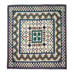 Patch Quilts - Bear Creek Quilt King 105 x 95 - - Intricate  patchwork and beautiful hand quilting.Bedding ensemble from Patch Magic  - The Name for the finest quality quilts and accessories  - Machine washable.Line or Flat dry only Patch Quilts - QKBCRE