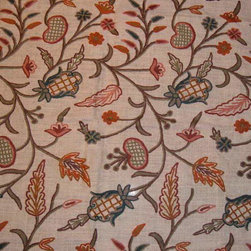 Crewel Fabric World by MDS - Crewel Fabric DeDar Natural White Jute- Yardage - History: Dedar was highly revered in the Indian history. It was called Devadaru in Sanskrit and is highly valued for its appearance as well as its timberUse: Furniture Manufacturers can Use this fabric to address the needs of customers who love the nature