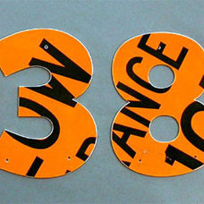 Eclectic House Numbers by eco-artware.com