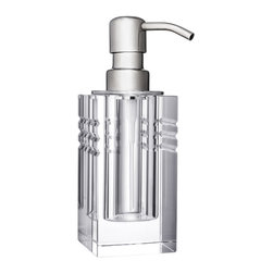 Orrefors - Ice Lotion Dispenser - The sleek lines in the Ice collection from Orrefors make a sophisticated statement for your powder room or vanity.