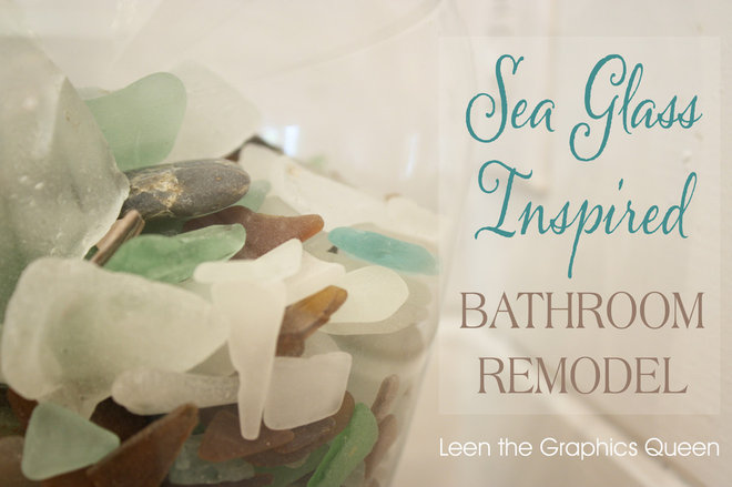 Sea glass inspired bathroom remodel for Sea glass bathroom ideas