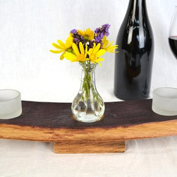 Small Wine Barrel Candle Holder -