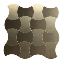 "GL Stone - Morocco Silver Aluminum Mosaic Tile 11""x11"", Dark Silver, 1 Carton ( 22 Sheets ) - Morocco Aluminum Tile with strong glue backing which is no need to grout and easy installation. That would be the great way to save time and cost. The aluminum tile is 11""  X 11""  0.84 Sq Ft per sheet for kitchen backsplash, shower walls or any interior decor project. The dark silver color is the perfect choice to upgrade the fashion sense of commercial and residential spaces."