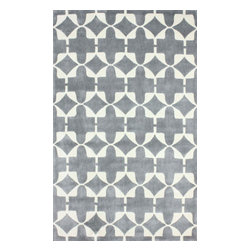 """nuLOOM - Contemporary 7' 6"""" x 9' 6"""" Grey Hand Tufted Area Rug Trellis ACR198 - Made from the finest materials in the world and with the uttermost care, our rugs are a great addition to your home."""